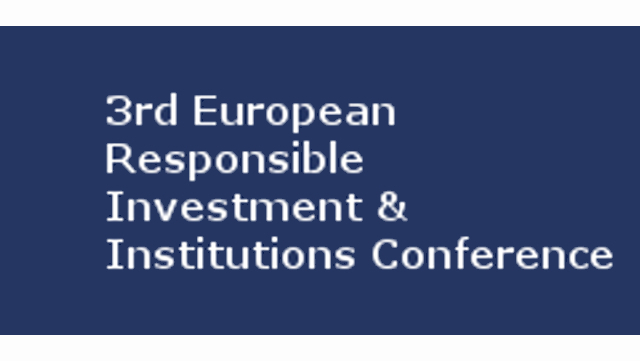 3rd European Responsible Investment & Institutions Conference